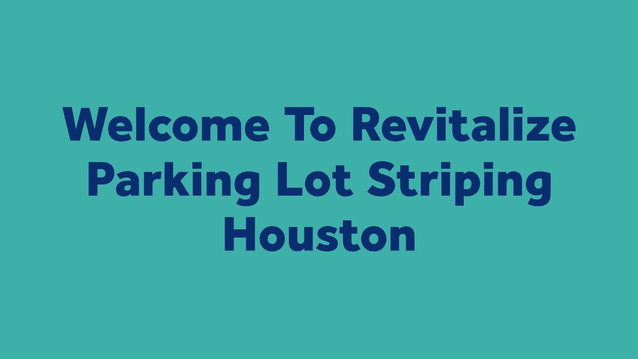 Revitalize Parking Lot Striping : Concrete Repair in Houston