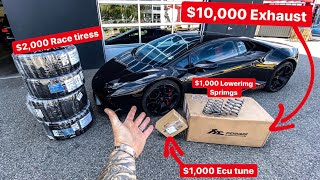 SECRETLY MODIFYING MY BEST FRIENDS LAMBORGHINI! *$14,000 IN MODS!*