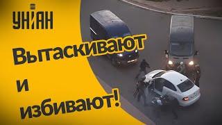 ОМОН в Беларуси вытаскивает водителей из машин и избивает их