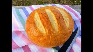 Если остался стакан кефира побалуйте себя вкусным хлебом Хлеб на кефире проще не бывает