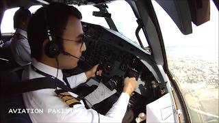 PIA PAKISTAN INTERNATIONAL AIRLINES ISLAMABAD TO GILGIT FROM ATR-42 FLIGHT DECK PART1