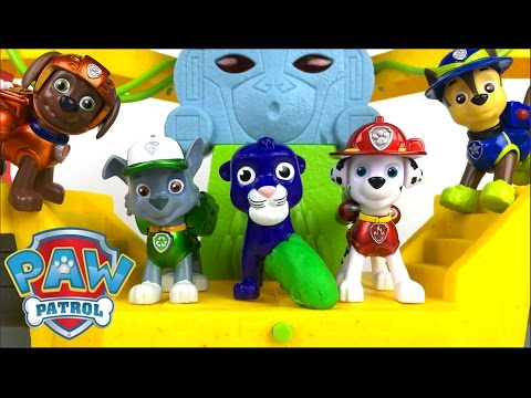 STORY WITH PAW PATROL TEAM & JUNGLE RESCUE PAW TERRAIN VEHICLE - BABY LEOPARD RESCUE FROM THE TRAP