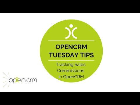 Tuesday Tip - Tracking Sales Commissions in OpenCRM