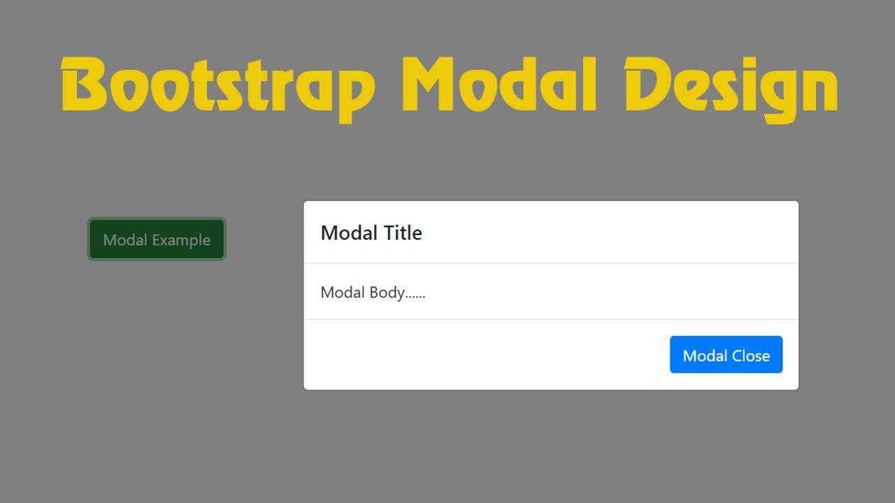 Bootstrap Modal Tutorial Using Bootstrap Framework