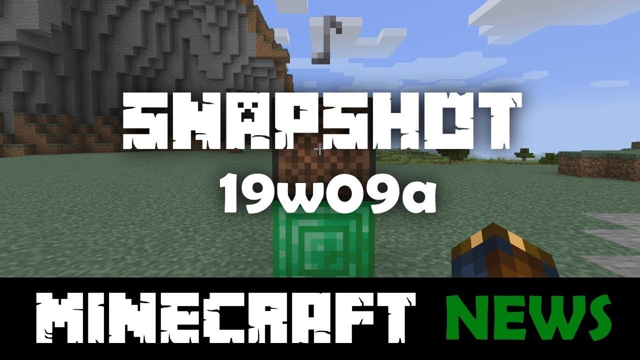 19w09a – Official Minecraft Wiki
