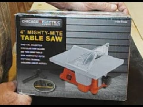 Harbor Freight Review 4 Inch Mighty Mite Table Saw - YouTube
