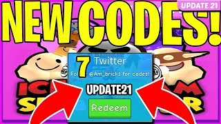 ICE CREAM SIMULATOR NEW CODES 🍦 UPDATE 21 🍦 ROBLOX 7 *NEW* CODES!