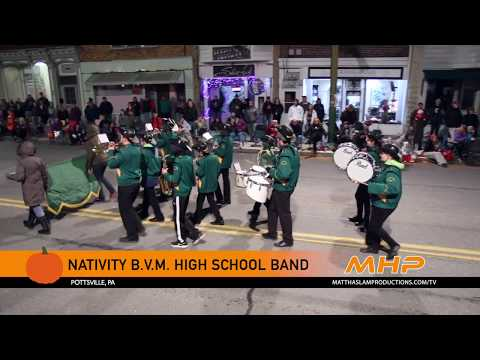 Nativity BVM High School Marching Band in the St. Clair Halloween Parade 2018
