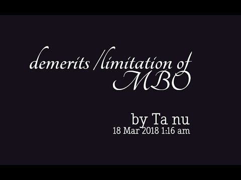 Limitation/demerits Of Mbo/management By Objectives