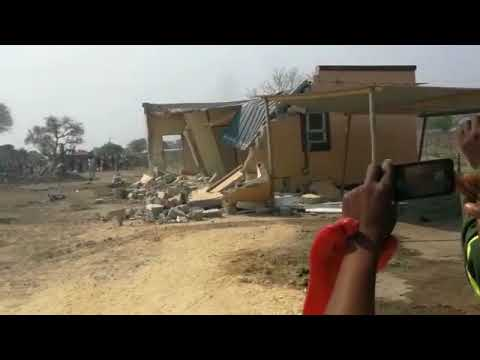 Katima Mulilo Town Council demolishes illegal structures at the town