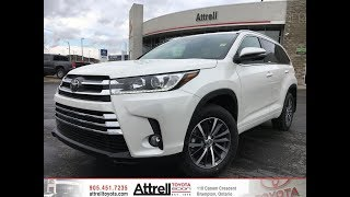2018 Toyota Highlander XLE AWD Review Brampton ON - Attrell Toyota