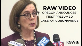 RAW: Oregon announces first presumed case of coronavirus