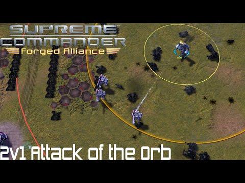 Supreme Commander FAF - 2v1 Attack of the Orb