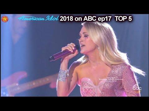 "Carrie Underwood sings Her Hit Single ""Cry Pretty"" Top 5 American Idol 2018"