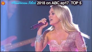 "Carrie Underwood sings Her Hit Single ""Cry Pretty"" Top 5 American Idol 2018"