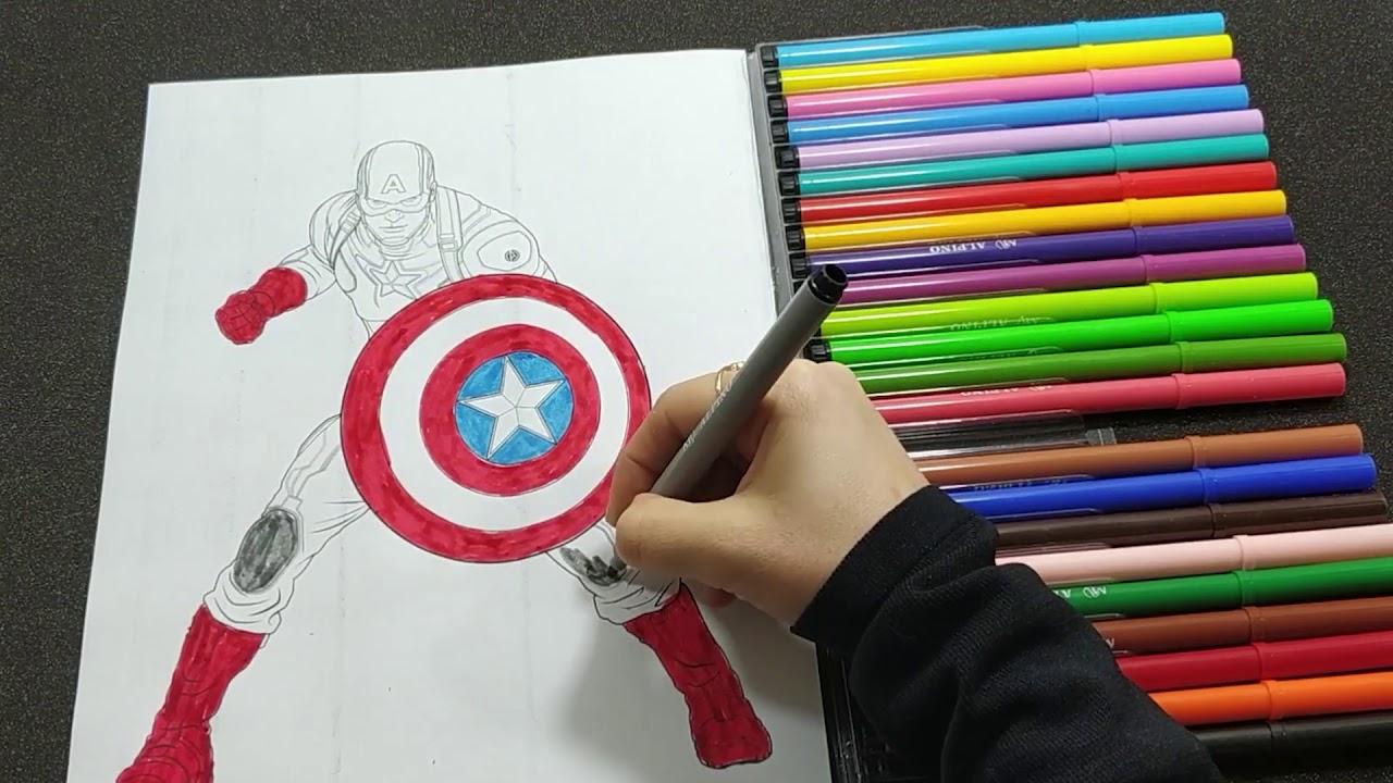 Captain America Kaptan Amerika Avengers Endgame Boyama Izle Youtube