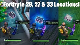 Fortnite FortByte Challenges 29, 27 & 33 Guide | Crackshots Cabin, Map Location A4