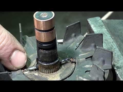 Как заменить токосъемные(контактные) кольца ротора генератора ВАЗ. Подробно. Пайка. Съем колец.
