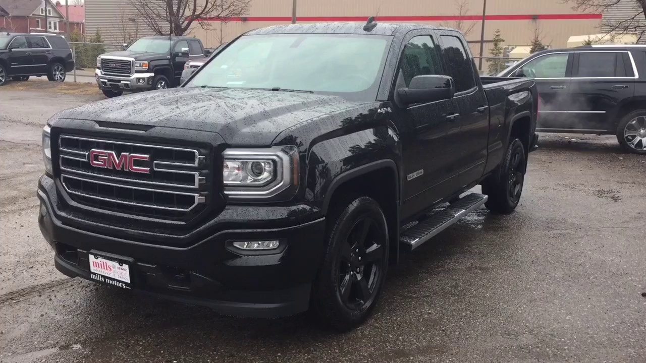 2017 GMC Sierra 1500 4WD Double Cab 20 Inch Rims Black ...