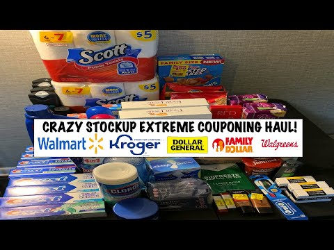 CRAZY STOCKUP EXTREME COUPONING HAUL! - 07/31/20 - WALMART/KROGER/WALGREENS/FAMILY $/DOLLAR GENERAL