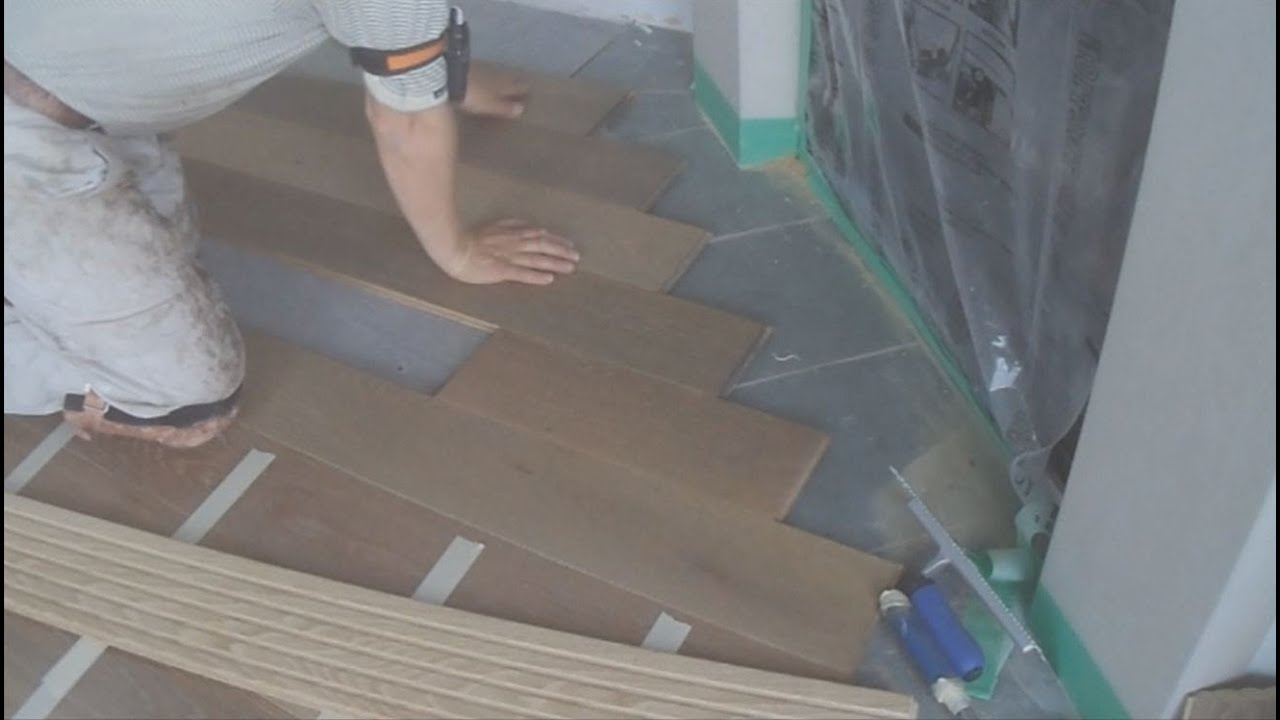 how to install white oak wide plank hardwood flooring around a