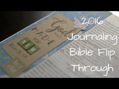 2016 Bible Journaling Flip Through