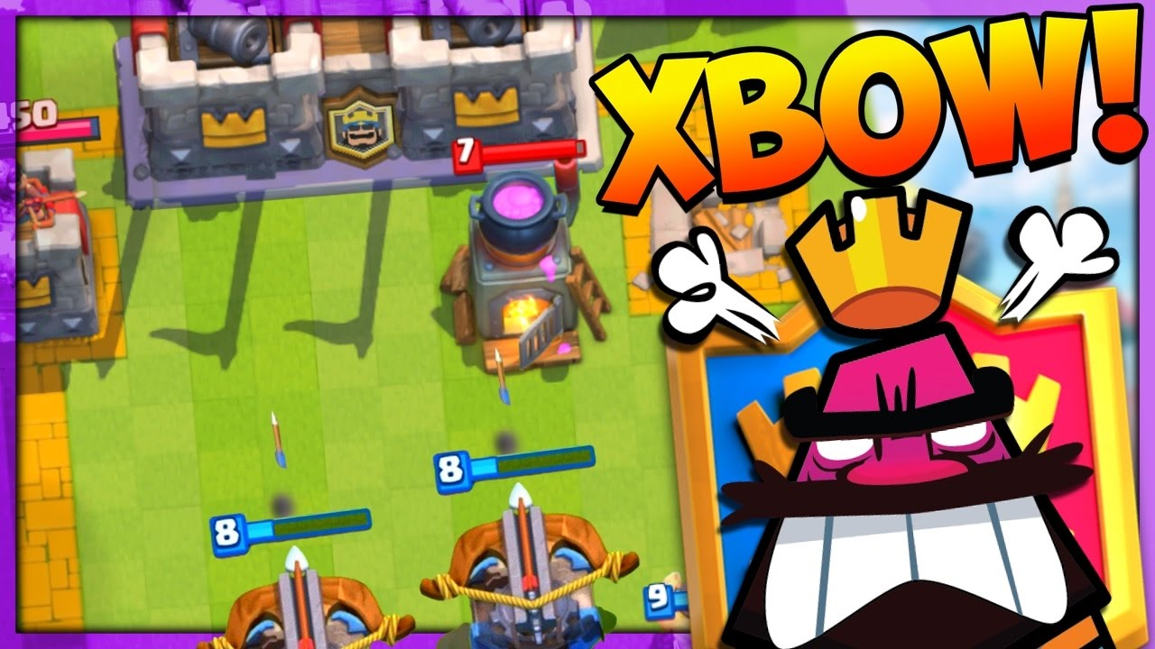 2v2 double xbow deck clash royale youtube for Clash royale deck arc x