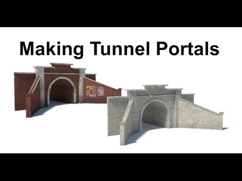 Making Tunnel Portals for Model Railroads