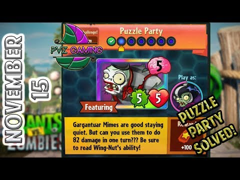 PvZ Heroes: Daily Challenge 11/15/2017 (November 15) – Puzzle Party [Nov 15]