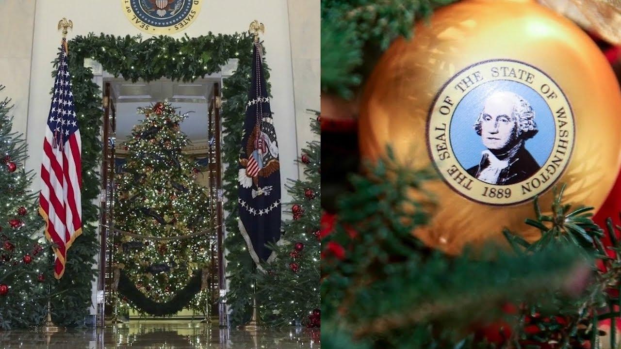 Melania Trump Unveils Red Christmas Trees For White House Christmas