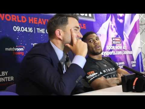 ANTHONY JOSHUA v CHARLES MARTIN - FULL POST FIGHT PRESS CONFERENCE (WITH EDDIE HEARN)