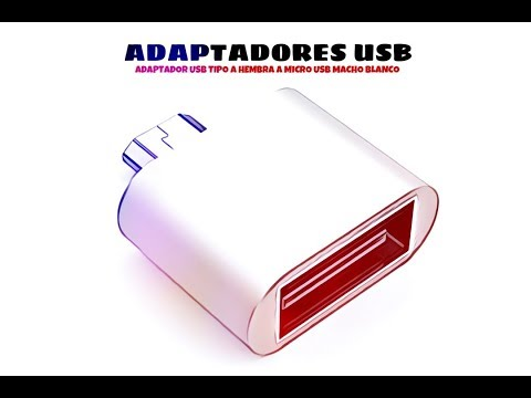 Video de Adaptador USB tipo A hembra a micro USB macho  Blanco