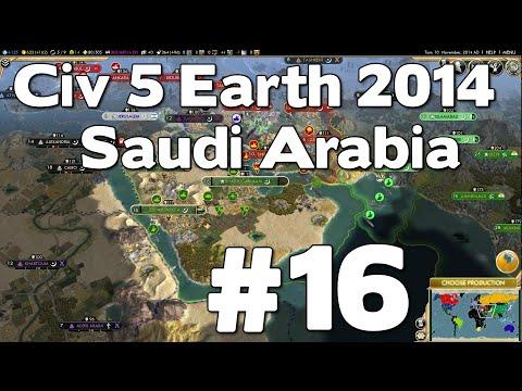 Let's Play Civ 5 Saudi Arabia Earth 2014 #16