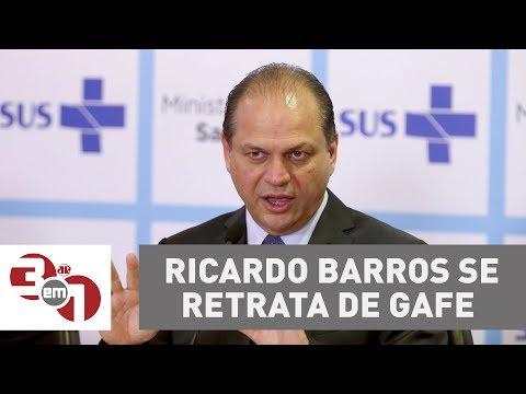 Ministro Da Saúde Ricardo Barros Se Retrata De Gafe Com Médicos