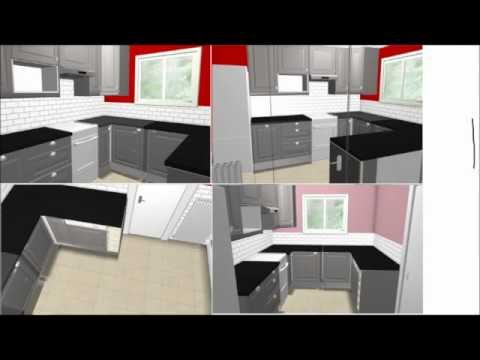 logiciel agencement 3d cedreo interactive doovi. Black Bedroom Furniture Sets. Home Design Ideas
