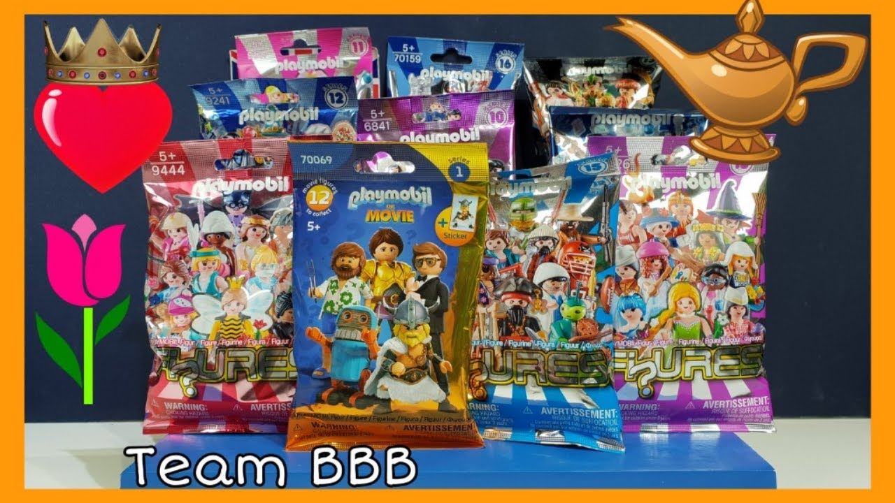 PLAYMOBIL MINI FIGURES! Unboxing Haul from The Movie and Series 10 to 16 Mystery Blind Bags