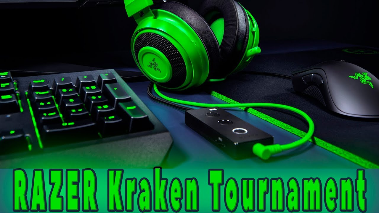 Razer Kraken Tournament Edition - обзор игровой гарнитуры и проверка микрофона.HD