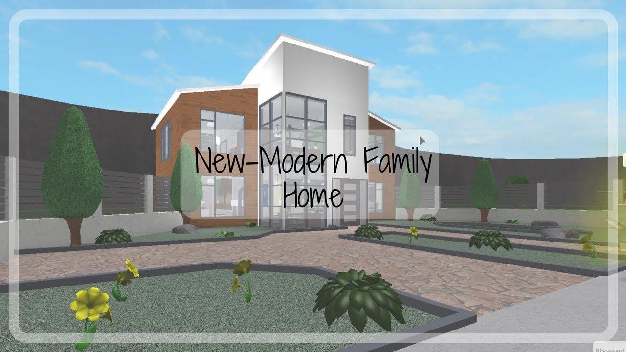 Roblox Bloxburg New Modern Family House 91k Youtube