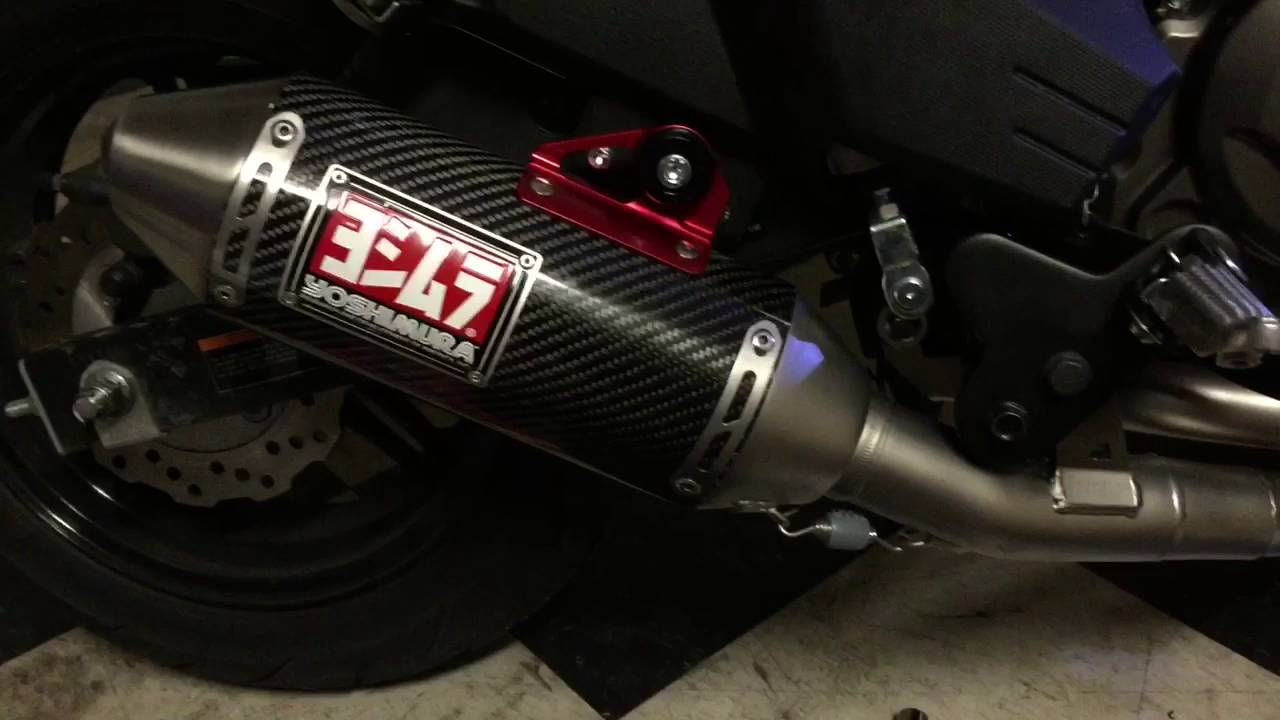 Kawasaki Z125 Pro Yoshimura Exhaust Install And Sound Youtube
