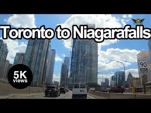 DRIVING FROM TORONTO TO NIAGARA FALLS ONTARIO CANADA 2020