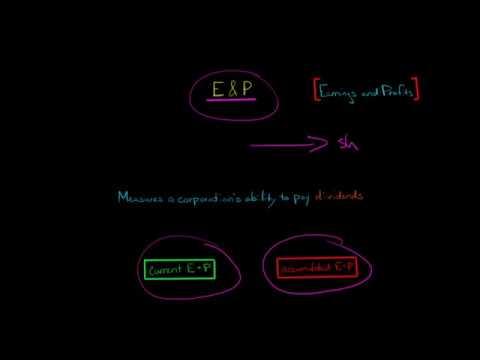 E&P Earnings and Profits (U.S. Corporate Tax)