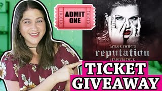 Taylor Swift Reputation Ticket Giveaway!! 🐍