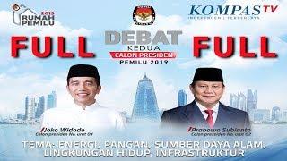 Download Video FULL LIVE DEBAT Kedua Capres Pemilu 2019 -- Jokowi vs Prabowo -- MP3 3GP MP4