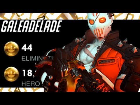 44 ELIMS - GALE DOMINATING AS SOLDIER 76! [ OVERWATCH SEASON 20 TOP 500 ]
