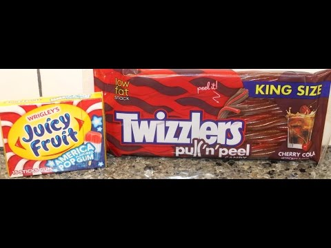 Twizzlers: Cherry Cola and Juicy Fruit America Pop Flavored Gum Review