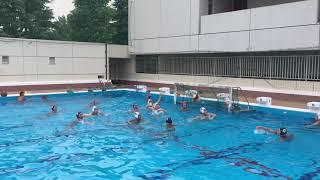 水球練「退水ゾーン」 水球女子 検索動画 28