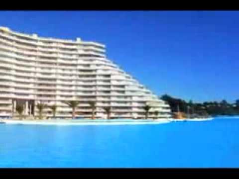 Crystal lagoon la piscina pi grande del mondo youtube for Piani del padiglione della piscina