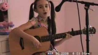 "Talented Kid Singer - 8yrs old ""Teardrops on my Guitar"""