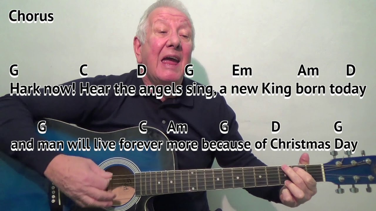Download Mary's Boy Child - key G - Christmas carol - easy chords guitar lesson - on-screen chords and lyrics