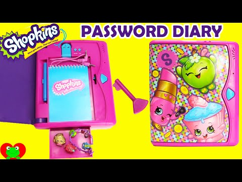 Shopkins Password Diary